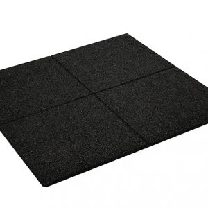 RUBBER PROMENADE TILE BLACK 500mm