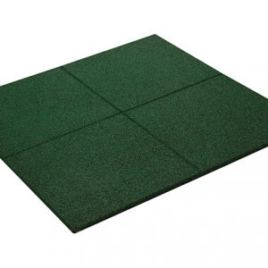RUBBER PROMENADE TILE GREEN 500mm