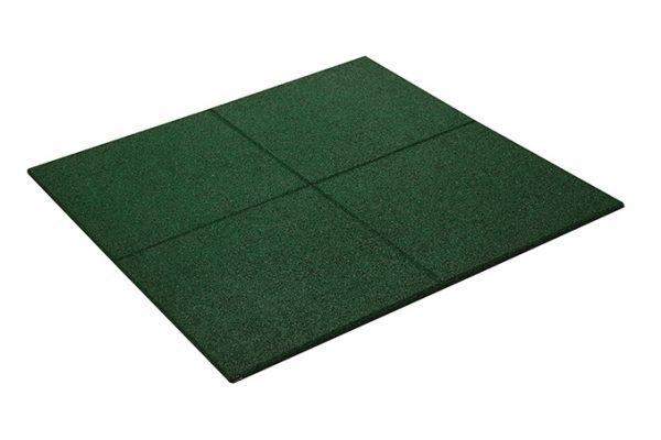 RUBBER PROMENADE TILE GREEN 500mm