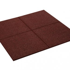 RUBBER PROMENADE TILE RED 500mm