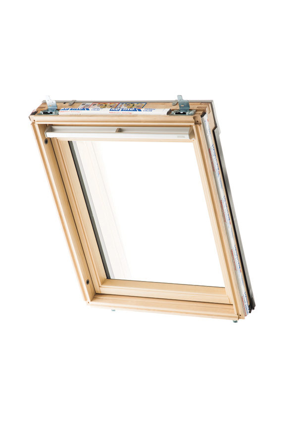Keylight Centre Pivot Roof Window Clear Lacquered 1340 x 1400
