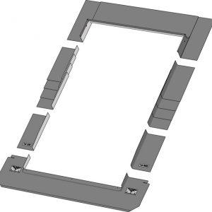 Keylight 1340 x 1400 SRF Slate flasing Kit