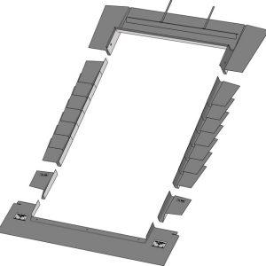Keylight 1340 x 1400 PTRF Plain Tile Flashing Kit
